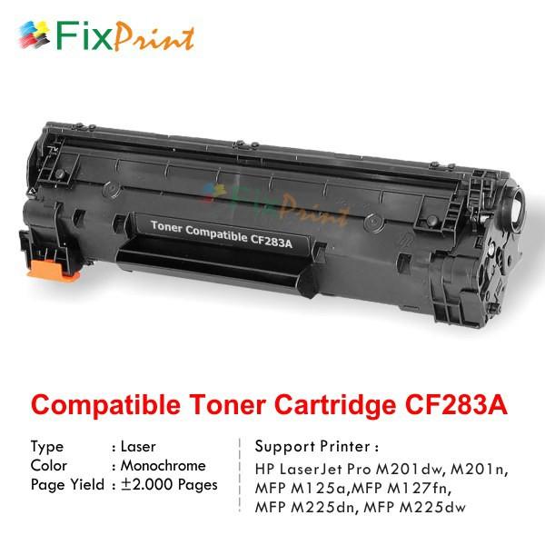 Cartridge Toner Compatible HP Cf283A 83A, Printer HP LaserJet Pro M201dw  M201n MFP