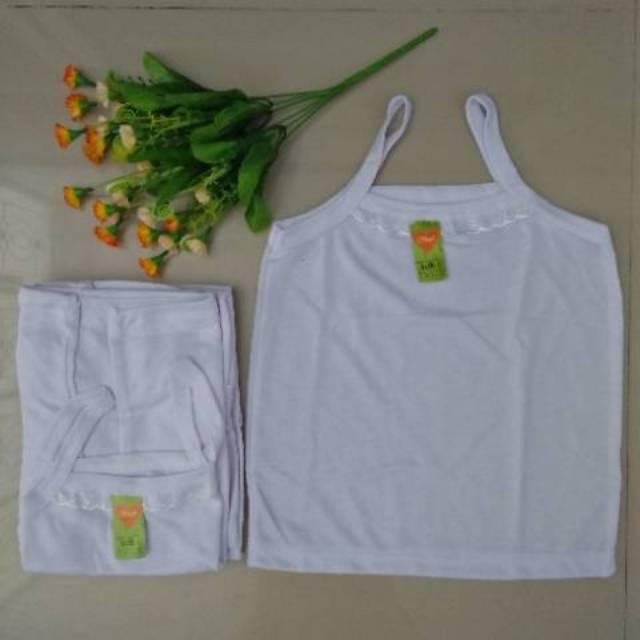 6pcs L Kaos Singlet Anak Cewek/kaos Dalam Anak Perempuan