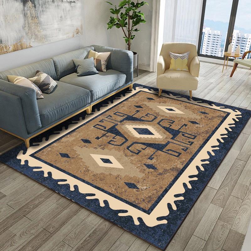 Karpet Ruang Tamu Nordic Retro Gaya Etnik Sederhana Sofa Meja Kopi Tikar Tempat Tidur Depan Kamar Ti | Shopee Indonesia