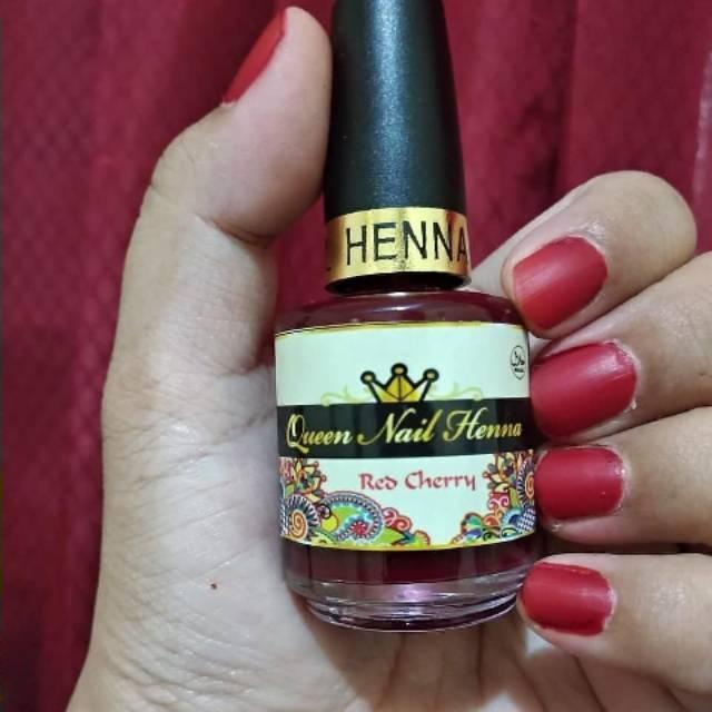 Nail Polish Muslimah Kutek Henna Queen Nail Henna Kemasan Baru