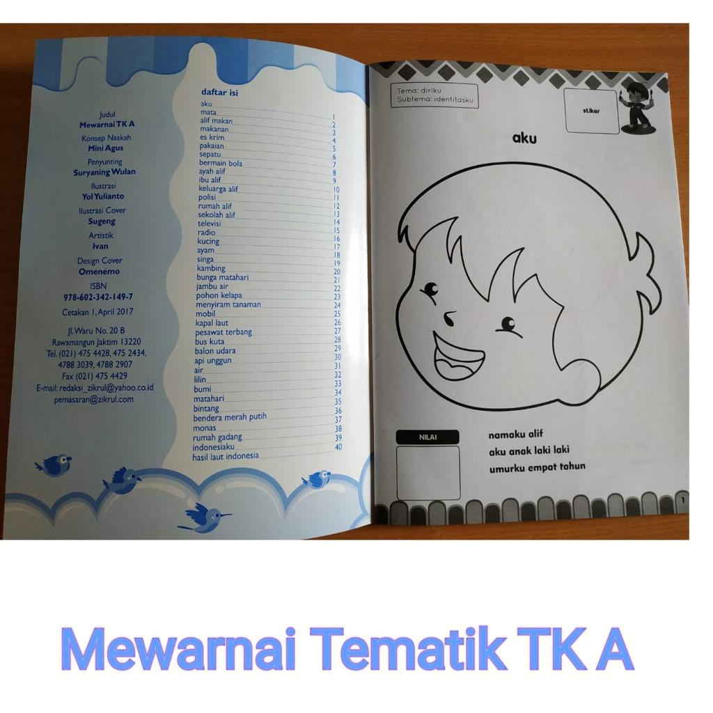 Buku Aktivitas Anak Paud Tk Mewarnai Tematik Shopee Indonesia