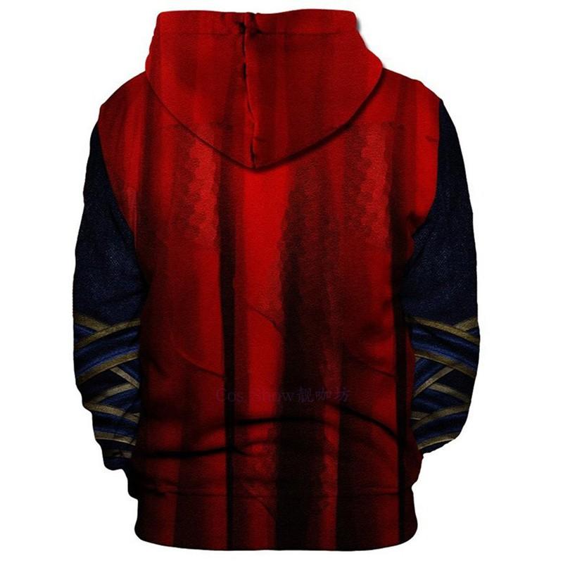 Dr Strange Hoodies Sweatshirt Cosplay Zip up Outwear Jacket Coat Costumes