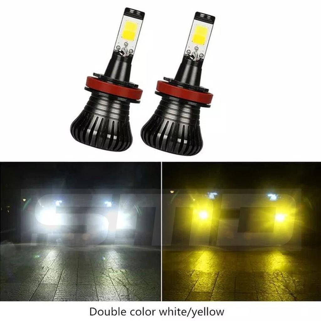 Lampu Led Fog Lamp H11 H8 H16 2 Warna Putih Kuning Super Terang Shopee Indonesia