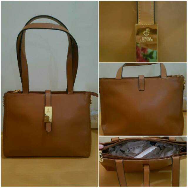 Tas Preloved Charles Louvier Warna Camel Ori Leather Authentic Original 100 Like Hnm Pedro Cnk Sho Indonesia