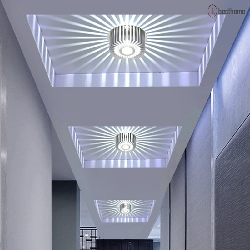 3W RGB LED Wall Light Sconce Spiral Ceiling Lamp Fixture Bulb Home KTV Bar Decor