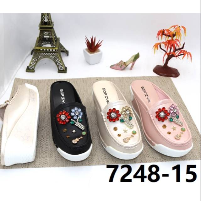 Sandal Wedges Import Wanita Sofiya 7248 15 Shopee Indonesia