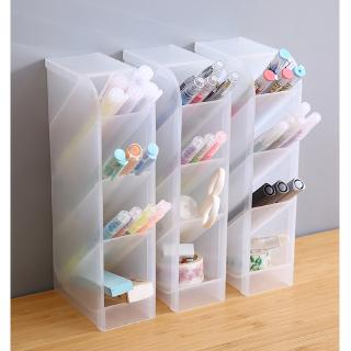 Muji Style 4 Grid Desktop Storage Multi-function Box  Desk Pen Pencil Case Make Up Cosmetic Holder #0