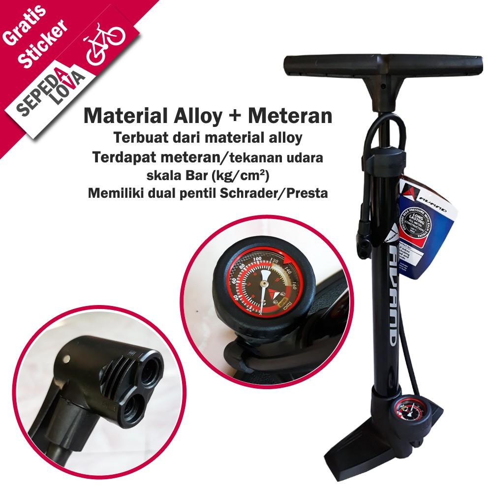 Pompa Sepeda Merk Avand Bahan Alloy Dilengkapi Meteran Psi Shopee Tangan Mini Exotic Fixie Mtb Bola Indonesia