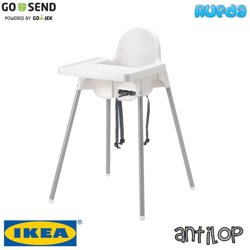 Ikea Antilop Kursi Makan Anak Highchair Lengkap Tray