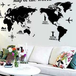 Stiker Dinding Wallpaper 60x90cm Motif Karakter Map Dunia Benua Hitam Putih Dekorasi Ruangan Shopee Indonesia