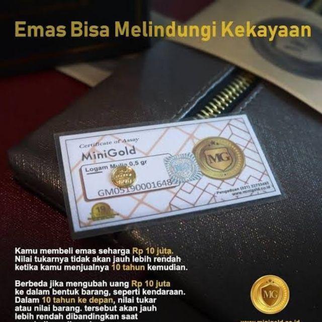 Emas Mini Gold 0 5 Gram Antam 0 5 Gram Shopee Indonesia