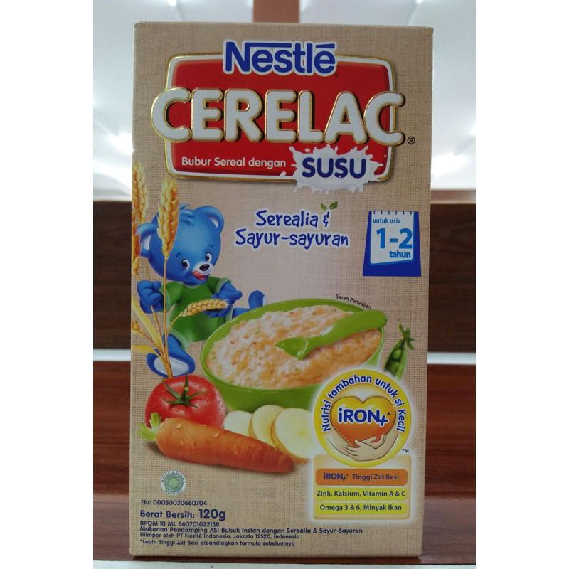 Bubur Sereal Cerelac Serealia Sayur Sayuran 120 Gram Shopee