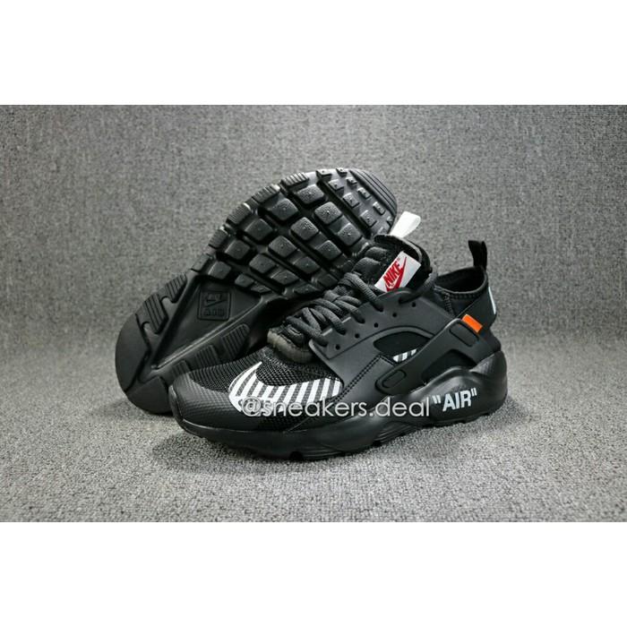 SEPATU SNEAKERS Nike Air Huarache Ultra X Off White Black Premium Original Sepatu Nike