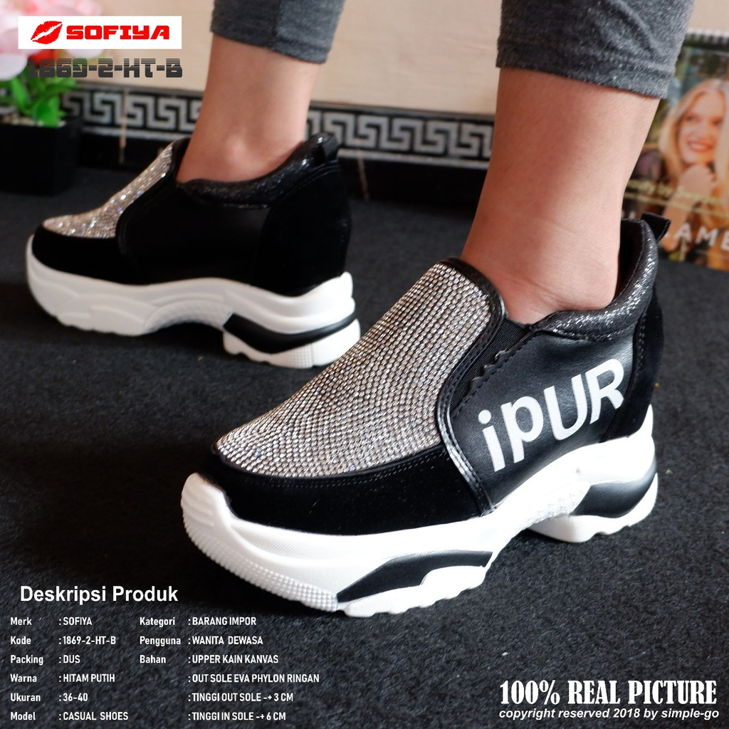 Promo Harga Hancur Sepatu Sofia Sol Tinggi Permata Rupi 1869 2
