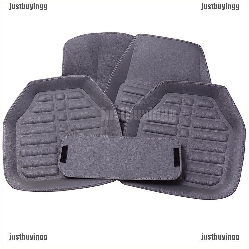 Car Floor Mats >> Wnm 5pcs Set Universal Grey Car Floor Mats Auto Floor Liner Leather Carpet Mat