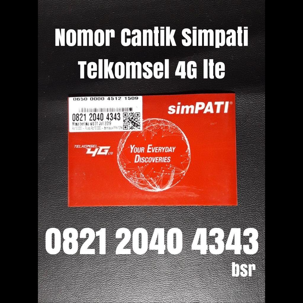 Nomor cantik simpati Telkomsel 4G nomer kartu perdana ujung abab 4343 | Shopee Indonesia