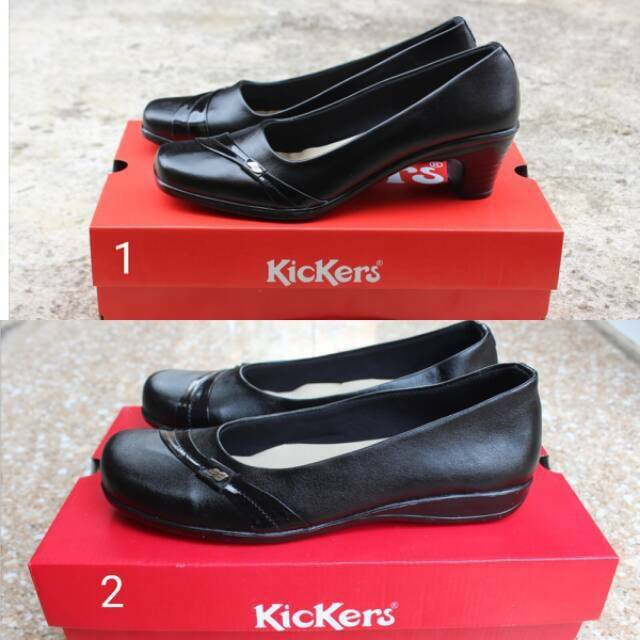 Sepatu Pantofel Wanita Hitam Sol Tp 2 Cm Cewek Sekolah Kantor