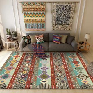 bohemian warna retro geometris gaya etnik ruang tamu kamar