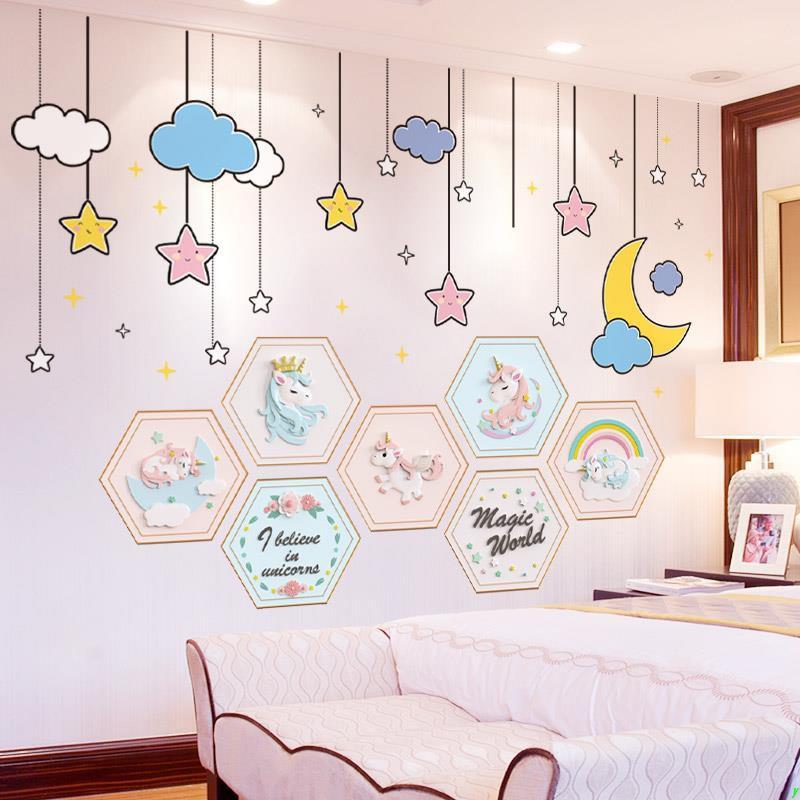 G0 Lu Stiker Dinding Gambar Hati Untuk Dekorasi Kamar Tidur Anak Perempuan Shopee Indonesia