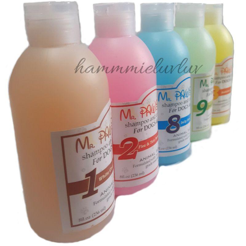 shampo dan kondisioner khusus anjing dan kucing MR PAW 236ml