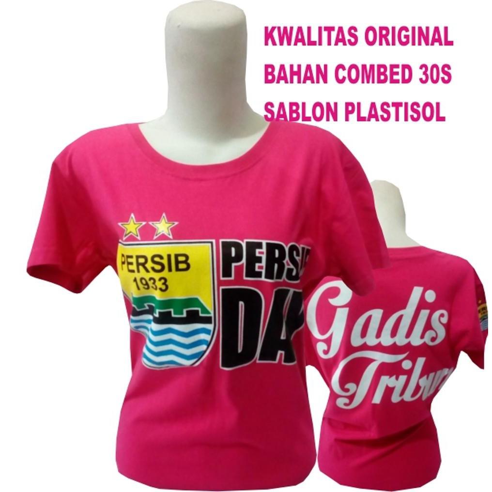 Unik kaos baju gadis tribun persib pink cewek cowok Murah | Shopee Indonesia