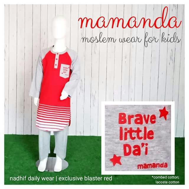 Set Nadhif Anak Mamanda Blaster Red (Nadhif Daily Wear)