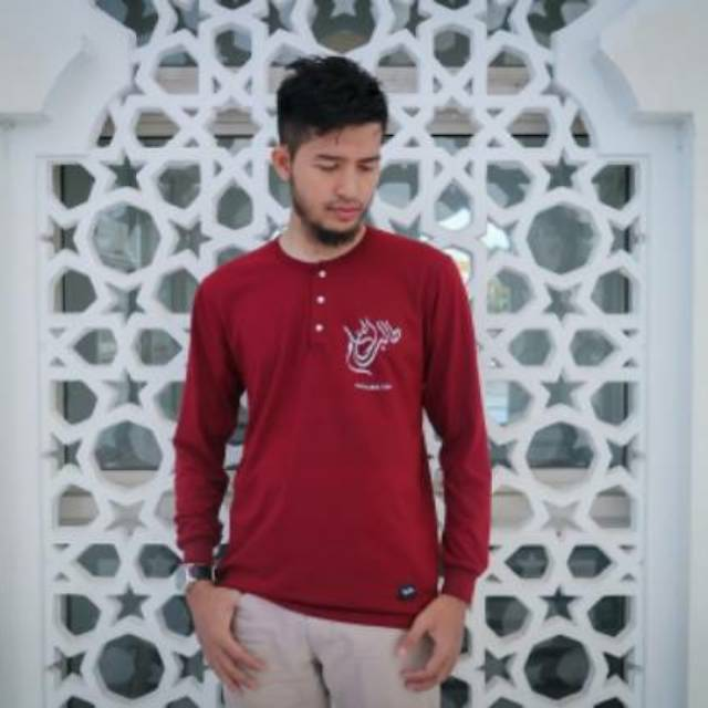 Kaos Muslim Kaligrafi Dakwah Naidu Henley Muslim Tshirt Keren Baju