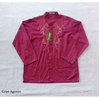 Baju-Koko-At-Taqwa-Maroon-XL