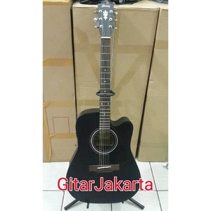 Gitar Akustik Jumbo Merk Ibanez Trusrod Black Doff Jakarta Murah