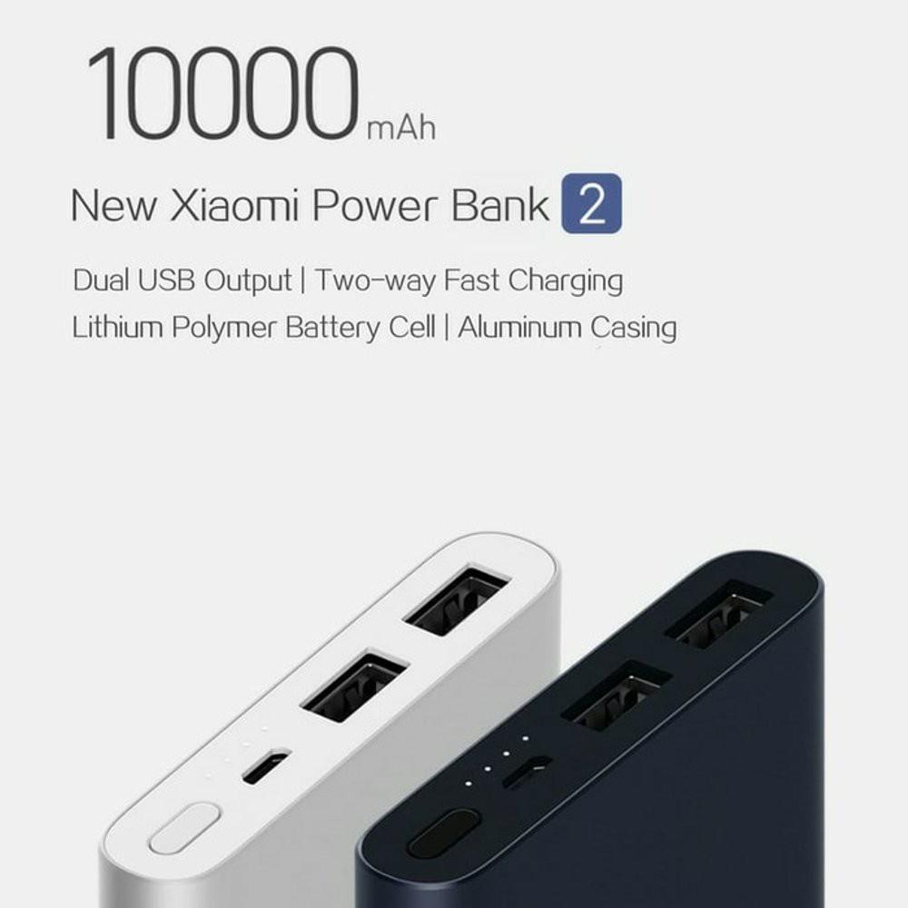 Powerbank Xiaomi Mi 2 Pro 10000mah Dual Port 2 USB