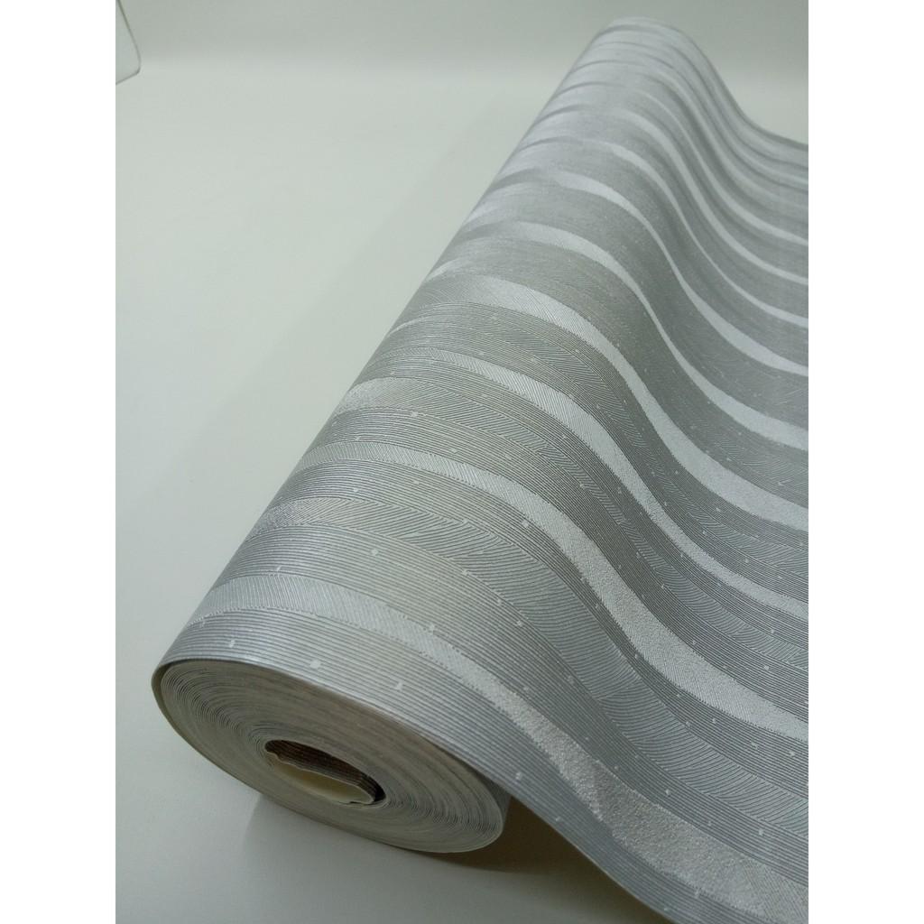 Wallpaper Dinding Vinyl Polos Salur Abu Abu P89 53 Cm X 10 Meter Premium Import Bukan Wallstiker Shopee Indonesia