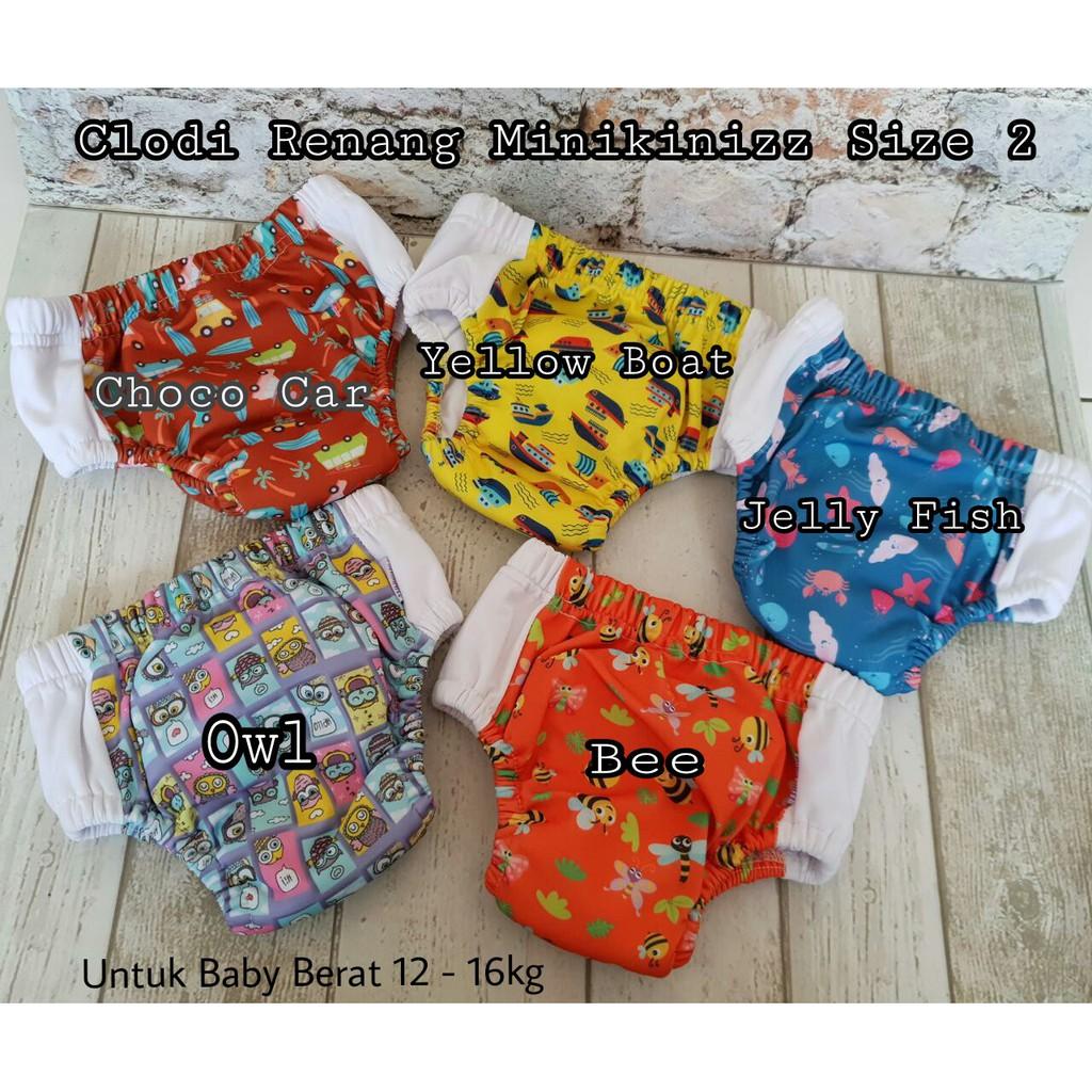 Cuci Gudang Minikinizz Chisana Shopee Indonesia Clodi Izzy Eco Cloth Diaper Popok Kain Grosir  Motif 6
