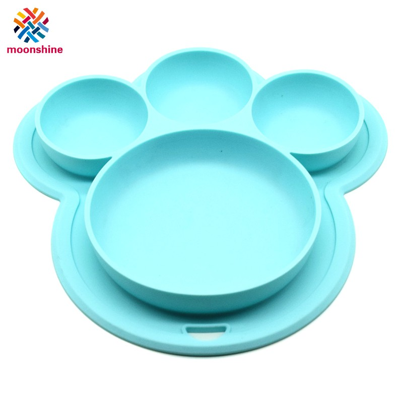 Child Tableware Non-slip Bowls Suction Pads Baby Plate Bowl MagicAbsorbing Wall
