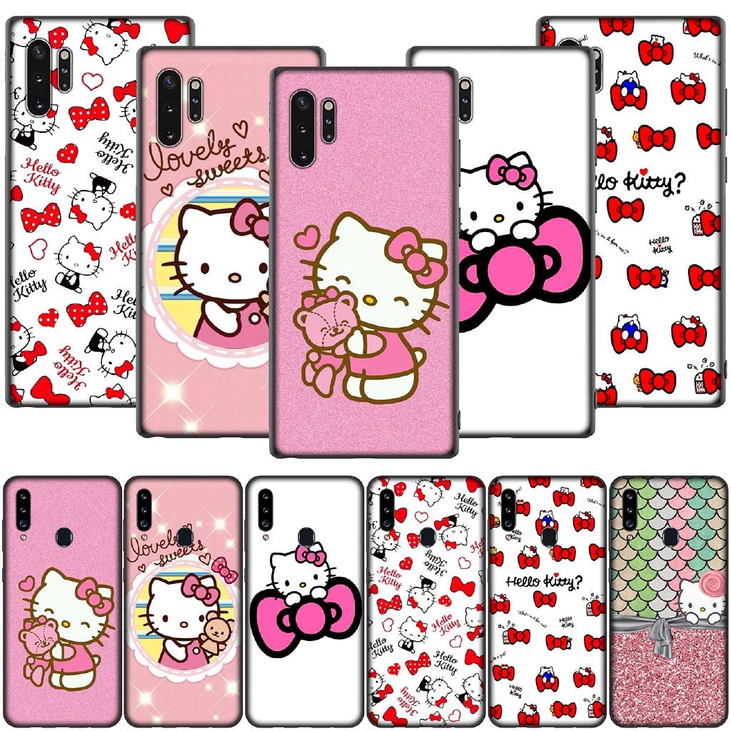 Casing Samsung Galaxy A10 A20 A30 A40 A10s A20s A30s A40s A20e Gambar Hello Kitty Warna Hitam Shopee Indonesia