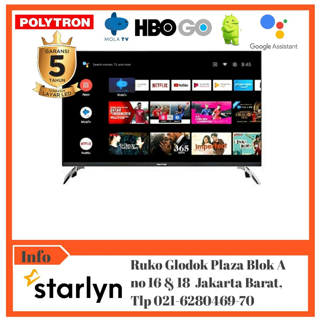 POLYTRON Smart Android Digital Mola TV 43inch PLD 43AG9953