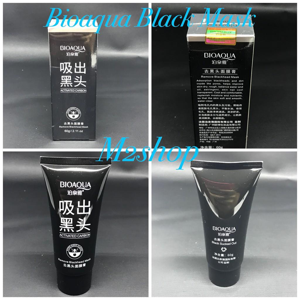 Bio Aqua Bioaqua Black Mask Masker Carbon Coral Blackhead Activated Charcoal Shopee Indonesia