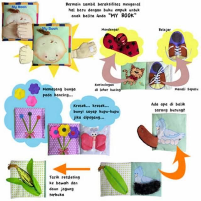 Buku Kain Gambar Kartun Untuk Edukasi Shopee Indonesia