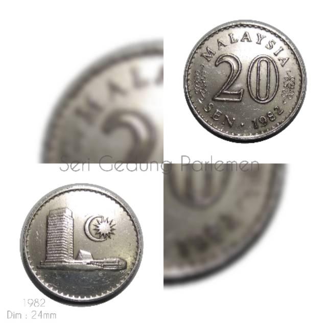 Koin Malaysia 20 Sen Gedung 1982