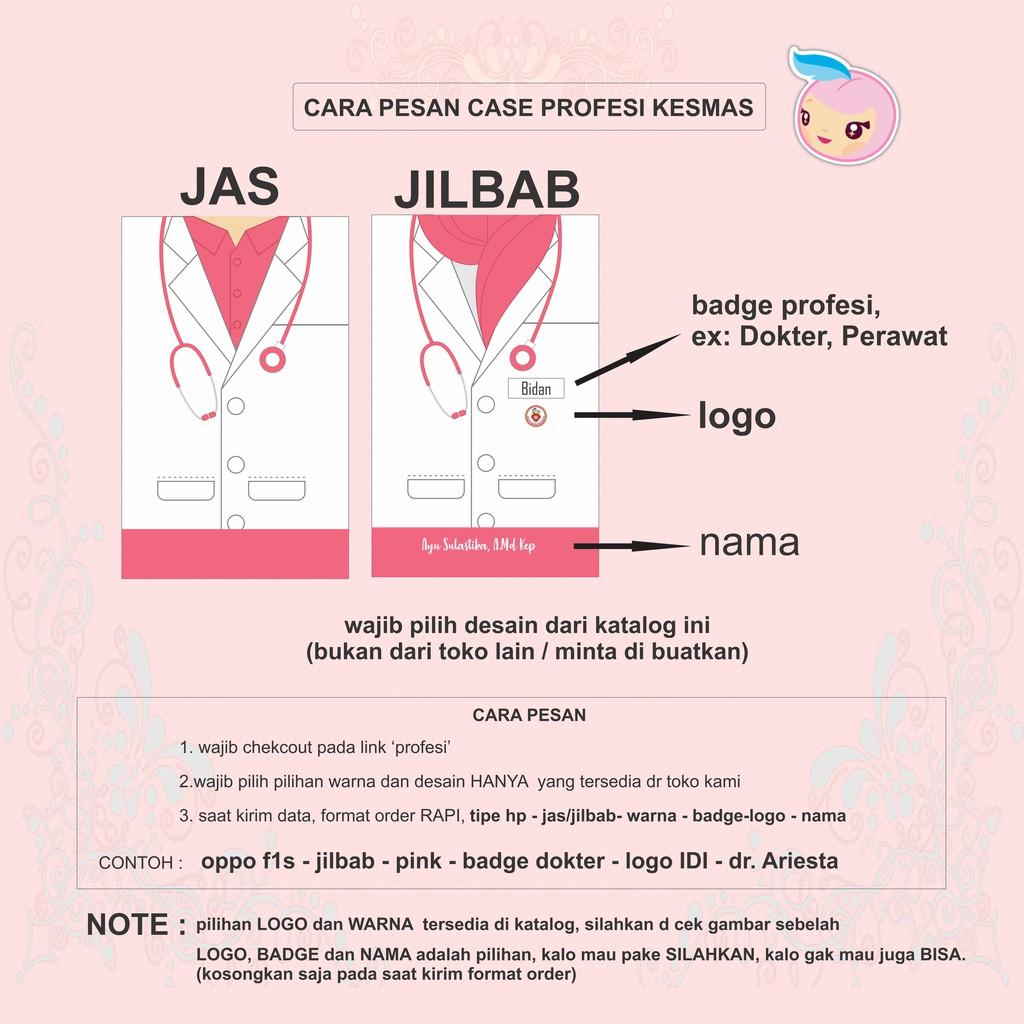 Custom Case Profesi Bidan / Perawat / Dokter / Polisi (Gratis Nama)  Softcase Hardcase Fullprint