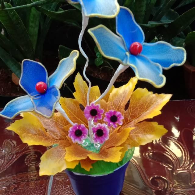 Bunga Stoking Dan Bunga Plastik Kresek Bunga Hias Dekorasi Rumah Accesories Handcraft Shopee Indonesia