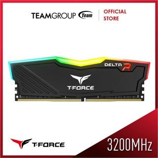 Team Memory Delta Tforce RGB 8GB PC 3200 DDR4 Black/White