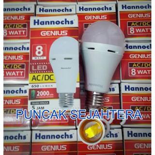 Lampu LED hannochs genius emergency magic ac dc 8w 8 watt Harga Terbaik .