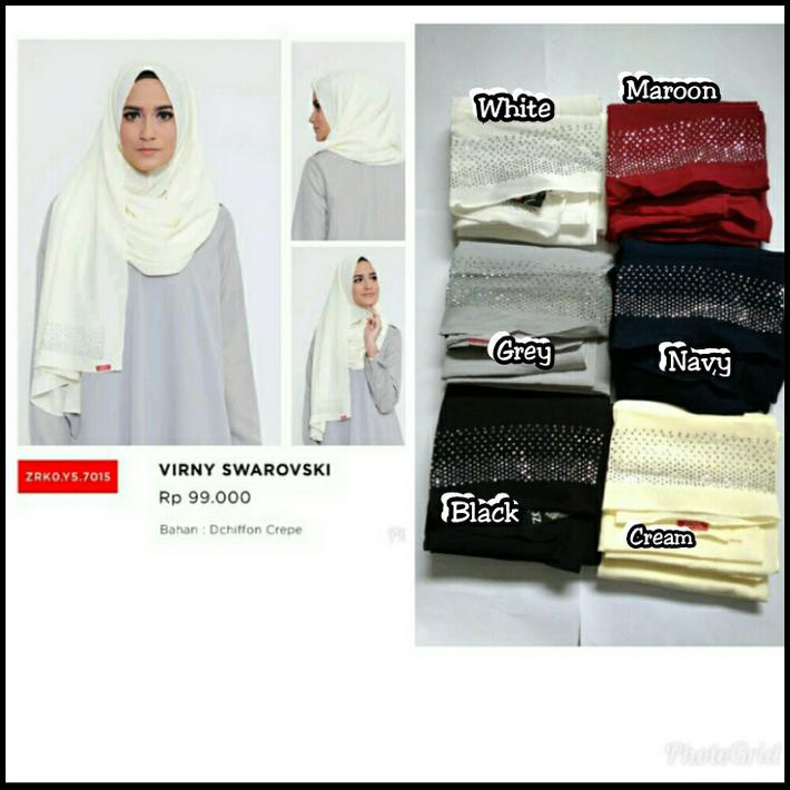 Hijab Pashmina Instan Virny Swarovski Zoya Original Shopee Indonesia