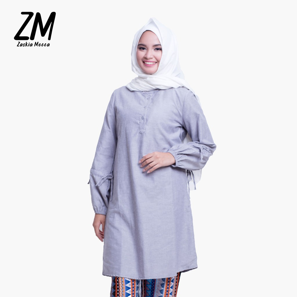 Zaskia Mecca Fei Vel Tunik Shopee Indonesia Raya Scarf Purple