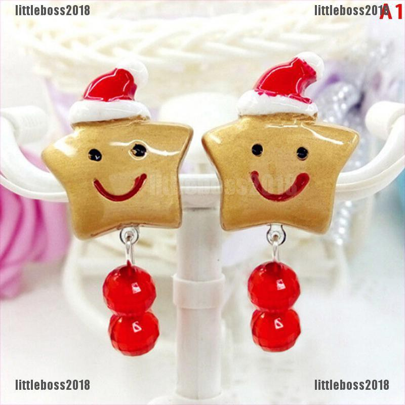 Little Lovely Girl Kids Lady Christmas Earrings Clip On No Ear Piercing Party Supplies Boss Shopee Indonesia