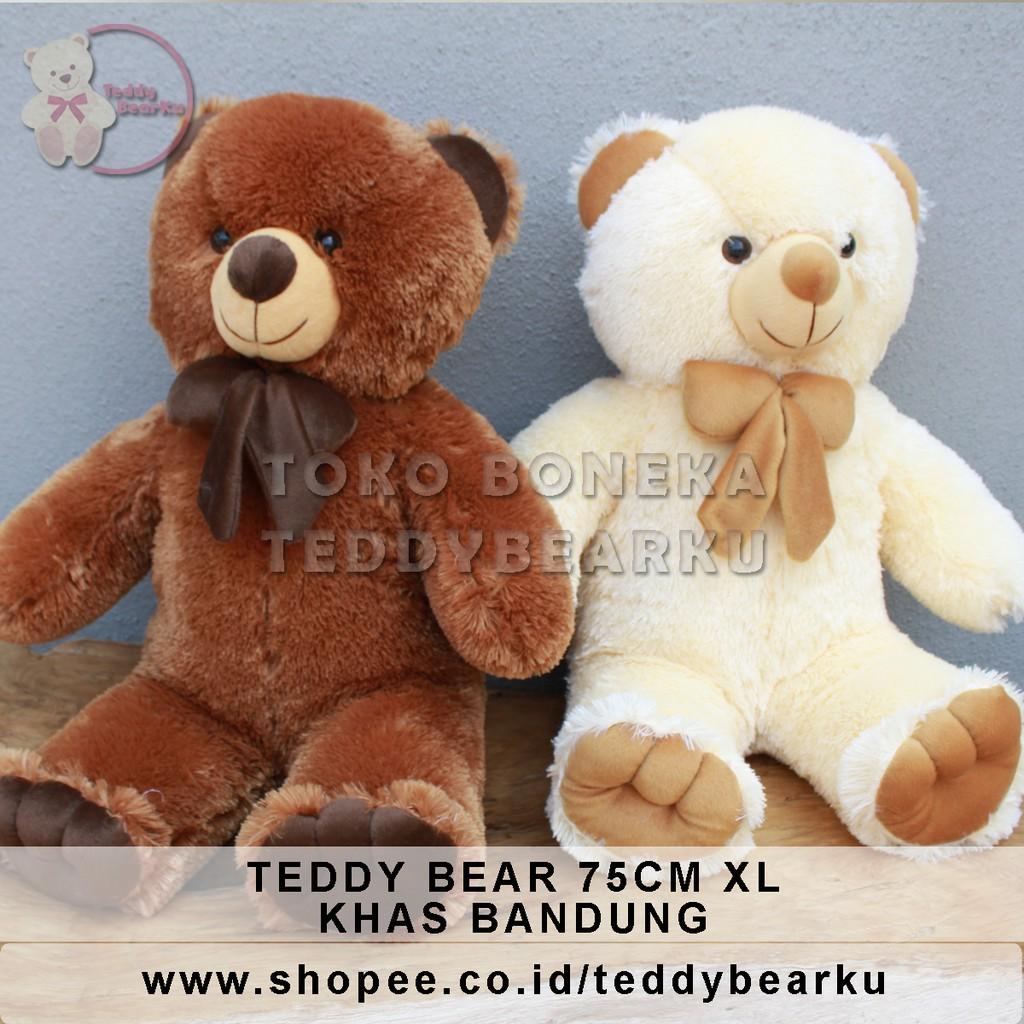 Boneka Teddy Bear Cream   Coklat XL 75CM Khas Bandung  ccc6d7f22d