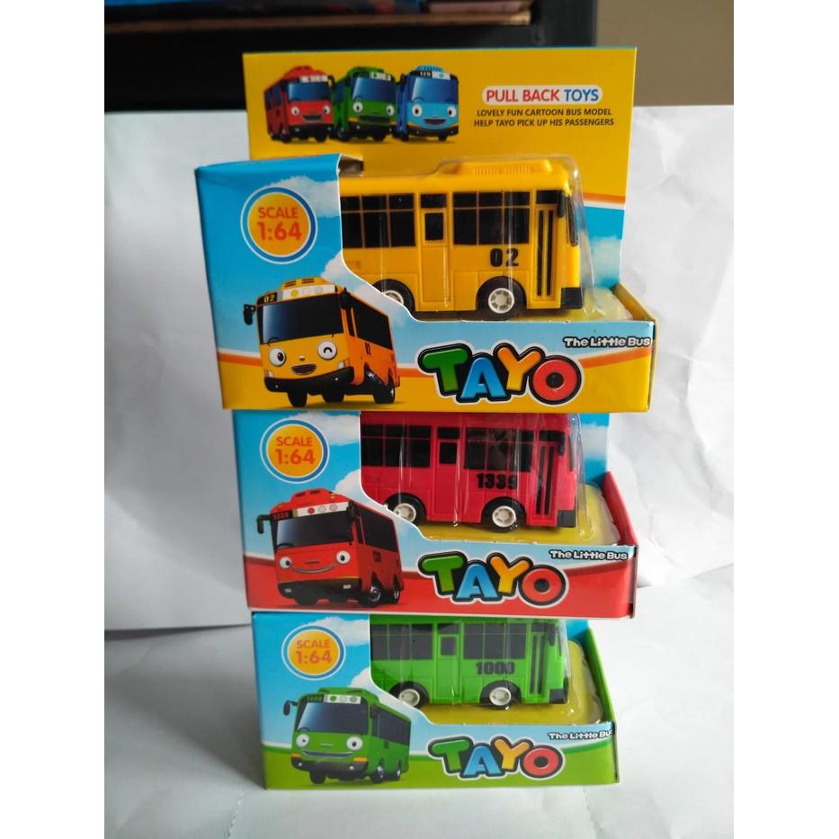 Fisher 4pcs 1set 4 Tayo Bus Garage Garasi Bis Pullback Mobil Mainan 1 Set Pcs Shopee Indonesia