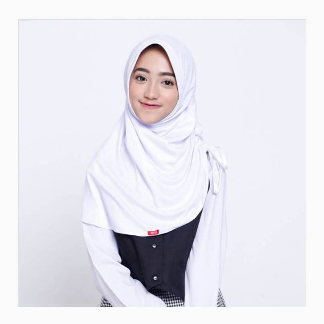 Zoya Jibab Sekolah Zoya Cermatmini Bergo Anak Sd Warna Putih Shopee Indonesia