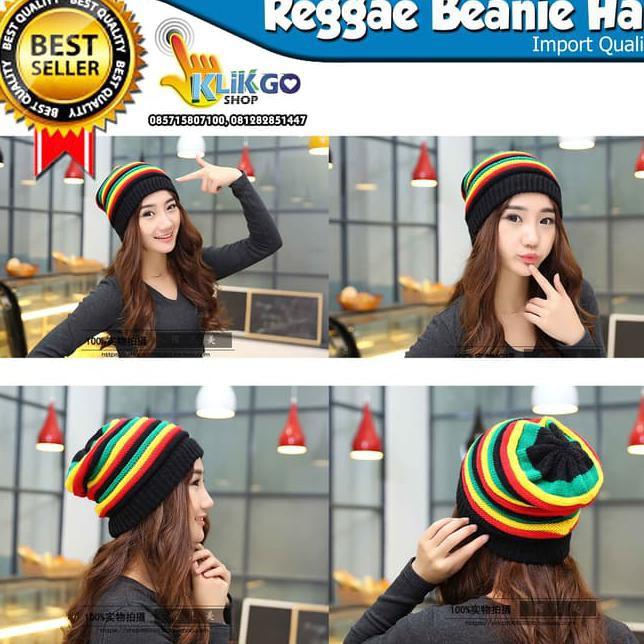 topi kupluk hip hop reggae rasta kupluk bob marley jamaican import ... c5e81860d5