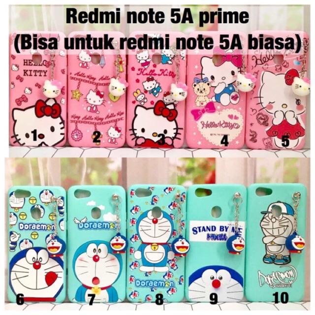Softcase case gantungan 3D boneka Xiaomi Redmi Note 5A prime doraemon stand by me hello kitty cute | Shopee Indonesia